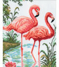 Flamingos Counted Cross Stitch Kit-10.2\u0022X12.2\u0022 14 Count