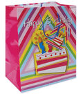 10-1/2\u0022x5-3/8\u0022x13\u0022 Gift Bags-Birthday Cake
