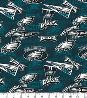 Philadelphia Eagles Cotton Fabric-Retro, , hi-res