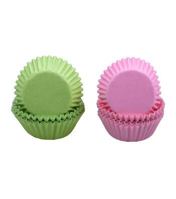 Easter 100 pk Cupcake Liners-Pink & Green