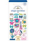 Doodlebug Design 26 pk Shape Sprinkles Adhesive Glossy Stickers-Hello
