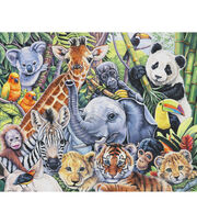 "Novelty Cotton Fabric Panel 44""-Jungle Babies, , hi-res"