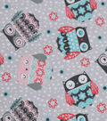 Snuggle Flannel Fabric -Stamped Owls