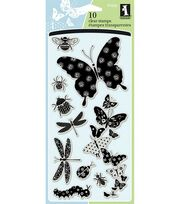 Inkadinkado Clear Stamps-Patterned Bugs, , hi-res