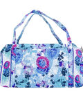 Mary Maxim Quilted Duffle Bag-Watercolor