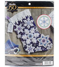 Sparkle Snowflake Stocking Felt Applique Kit 18\u0022 Long