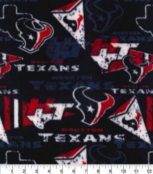 Houston Texans Fleece Fabric-Retro