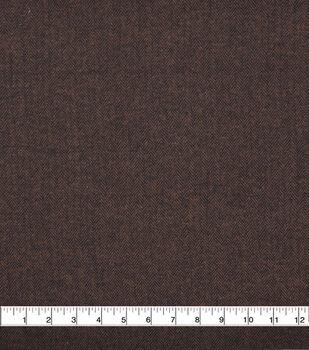Plaiditudes Brushed Cotton Apparel Fabric -Black & Brown Herringbone