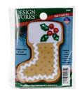 Design Works 3\u0027\u0027x4\u0027\u0027 Gingerbread Stocking Ornament Felt Craft Kit