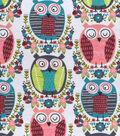Snuggle Flannel Fabric -Artsy Owls