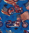 Patriotic Cotton Fabric -American Hot Rod