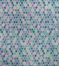 Metallic Flannel Fabric-Blue Green Scales Metallic