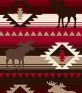 Anti-Pill Fleece Fabric -Moose Red