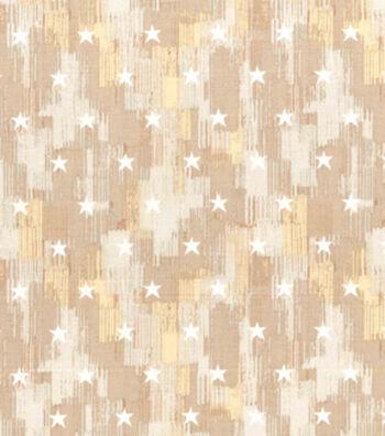 Patriotic Cotton Fabric 43''-Cream Brush Stroke & Stars