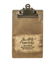 "Tim Holtz Idea-Ology Mini Clipboard 4.5""X7.75""-Brown, , hi-res"