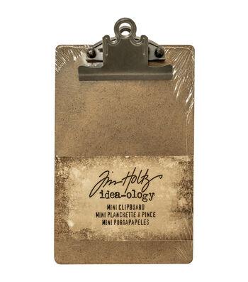 """Tim Holtz Idea-Ology Mini Clipboard 4.5""""X7.75""""-Brown"""