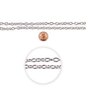 Blue Moon Medium Cable Chain-Silver