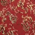 Jaquard Fabric-Floral Metallic Rio Red