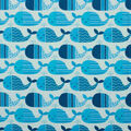 Super Snuggle Flannel Fabric-Patterened Blue Whales