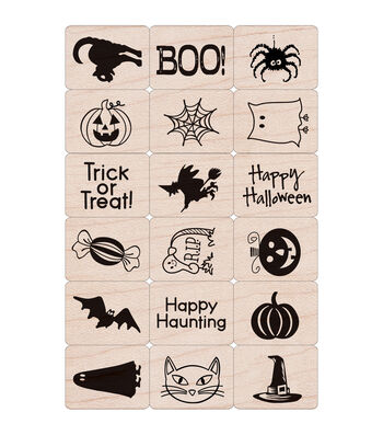 Hero Arts 18 Pack Ink 'n Stamps-Halloween