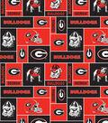 University of Georgia Bulldogs Fleece Fabric 58\u0027\u0027-Block
