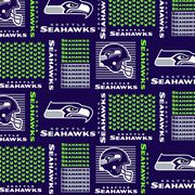 Seattle Seahawks Cotton Fabric -Patch, , hi-res