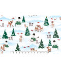 Holiday Cotton Fabric 44\u0022-Rudolph