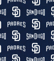 San Diego Padres Cotton Fabric -Logo, , hi-res