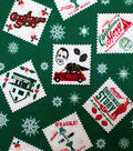 A Christmas Story Flannel Fabric 42\u0022-Stamps