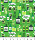 St. Patrick\u0027s Day Fabric 43\u0027\u0027-St. Patricks Day Drinks