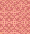 Quilt Block of the Month Coordinating Fabric -Coral Geometric