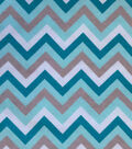 Snuggle Flannel Fabric 42\u0022-Chevron Aqua Sky