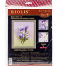 RIOLIS Satin Stitch Kit 5\u0022X6.25\u0022-Crocuses