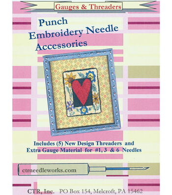 CTR Needleworks Punch Embroidery Needle Gauges & Threaders