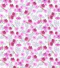 Nursery Flannel Fabric -Woodland Floral