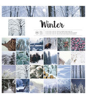 "American Crafts Single-Sided Paper Pad 12""X12"" 48/Pkg-Winter, , hi-res"