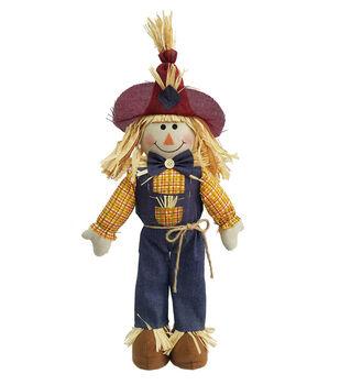 Simply Autumn 22'' Boy Scarecrow Porch Sitter