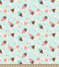 Mommy\u0027s Little Cupcake Print Fabric