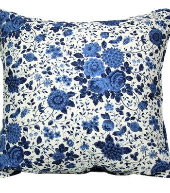 Americana Patriotic Outdoor Solarium Pillow-Navy Floral Print