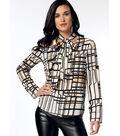 Vogue Pattern V9204 Misses\u0027 V-Neck Tops with Neck-Ties-Size 14-22
