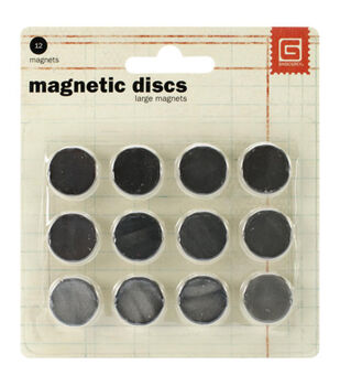 "Magnetic Discs .625"" 12/Pkg-1/32"" Thick"