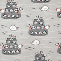 Super Snuggle Flannel Fabric-Baby Ark on Gray