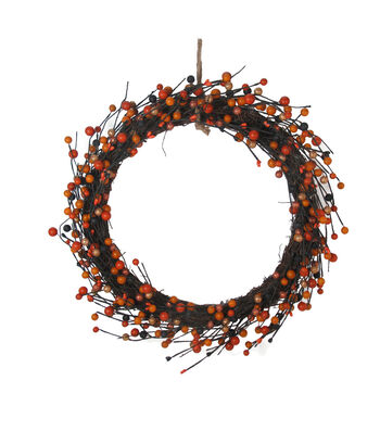 Maker's Halloween Berry Wreath
