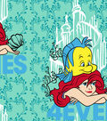 Disney The Little Mermaid Fleece Fabric 59\u0022-Besties 4Ever