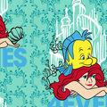 Disney The Little Mermaid Fleece Fabric-Besties Forever