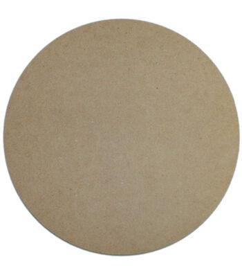 "Unfinished MDF Plaque 1/Pkg-Circle 10"""