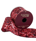 Blooming Autumn Ribbon 2.5\u0027\u0027x12\u0027-Burgundy Floral Print