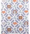 No Sew Fleece Throw 48\u0022-Woodland Faces
