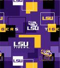 Louisiana State University Tigers Cotton Fabric 43\u0027\u0027-Modern Block