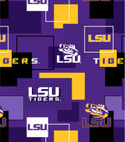 Louisiana State University Tigers Cotton Fabric 43''-Modern Block, , hi-res
